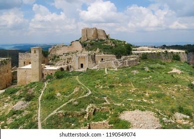 Saladin Castle (Qala'at Salah ad Din), Syria.  04 03 2008: also known as Sahyun or the Citadel of Salah Ed-Din
