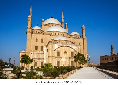 Saladin citadel in Cairo Egypt from outside