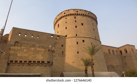 Saladin Citadel is the perfect example of medieval fortification with preserved gates and towers, connected with huge ramparts, Cairo, Egypt.