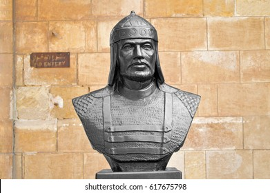 Saladin Monument, Old Metal Statue in Saladin Citadel, Cairo, Egypt