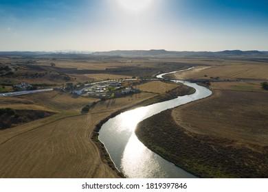 Salado River flowing through the fields next to Conil de la Frontera