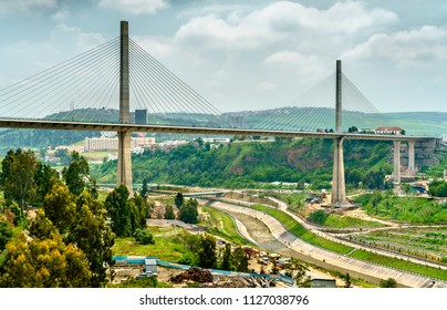 The Salah Bey Viaduct across the Rhummel Canyon in Constantine - Algeria, North Africa