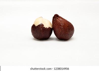Salak fruit ( Salacca zalacca) isolated on white background