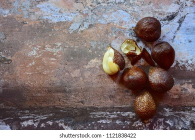Salak fruit, Salacca zalacca, species of palm tree fruit native to Java and Sumatra in Indonesia