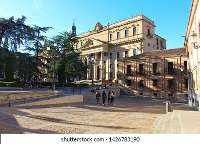 SALAMANCA, CASTILE AND LEON/SPAIN, JUNE, 15, 2019: Anaya Palace, current faculty of philology of the University of Salamanca