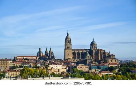 Salamanca Cathedral in the morning, Salamanca, Spain