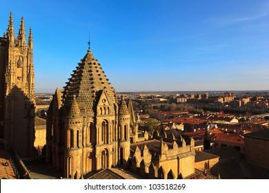 Salamanca Cathedral on sunset