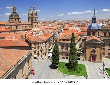 Salamanca skyline, aerial view, Spain