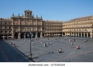 Salamanca. Spain. 07.14.12. The Royal Pavilion in the Plaza Major in the city of Salamanca in the Castilla-y-Leon region of central Spain.