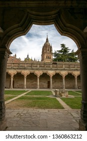 SALAMANCA, SPAIN - APRIL 4, 2019: Escuelas Menores (Minor Schools) of the University of Salamanca, is the building that housed the minor teachings (Bachelor's degree) of the university studies.