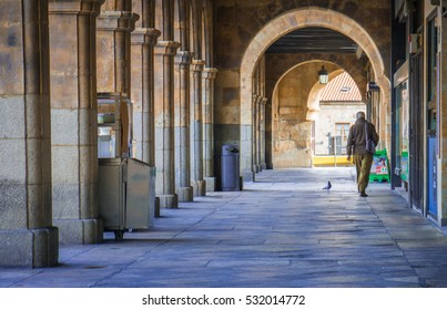 Salamanca, Spain - December 2016: Salamanca has a beautiful historic center with well preserved buildings that bring you back in time!