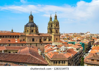 Salamanca, Spain. July 15, 2015.  Salamanca town view . Houses and building.