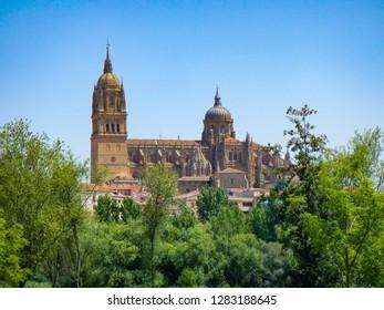 Salamanca, Spain. July 15, 2015.  Salamanca  landscape. Cathedral view.