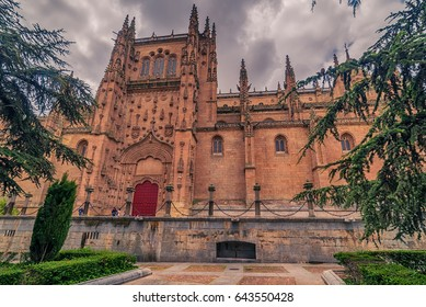 Salamanca, Spain: The New Cathedral, Catedral Nueva in the sunset