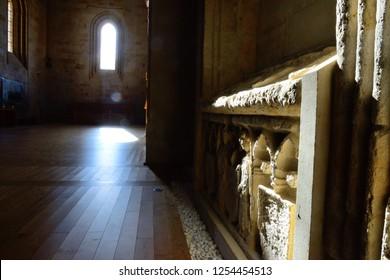 Salamanca, Spain - November 15, 2018: Interior of the old Cathedral of Salamanca.