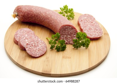 Salami at the piece and cut