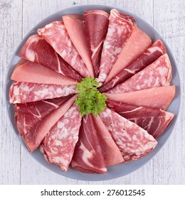 salami,bacon and ham