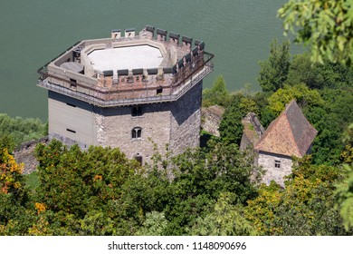 The Salamon tower of the castle of Visegrad, Hungary from the citadel above