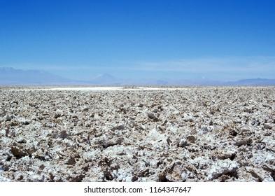 Salar de Atacama - Atacama desert, Chile. Salar de Atacama is the largest salt flat in Chile. It is located south of San Pedro de Atacama,