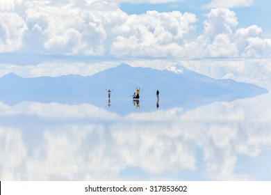 Salar de Uyuni is largest salt flat in the World (UNESCO World Heritage Site) - Altiplano, Bolivia, South America
