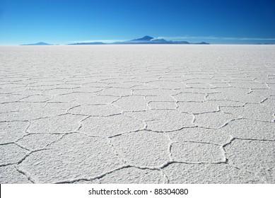 salar de uyuni salt desert in sunlight in bolivia