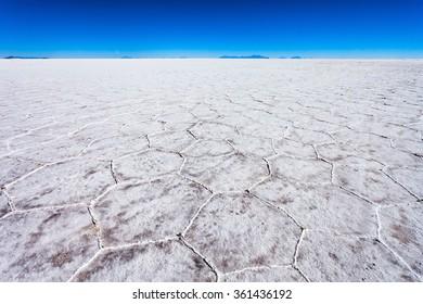 Salar de Uyuni (Salar de Tunupa) is the worlds largest salt flat near Uyuni, Bolivia