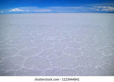 Salar de Uyuni, the world's largest salts flat, UNESCO World Heritage site in Bolivia, South America