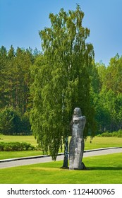 "SALASPILS, LATVIA - May 16, 2018:  Monument ""The Humiliated"" on the Place of Former Salaspils Concentration Camp. Autor Oleg Skarainis (Osvald Gauer)"