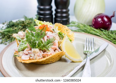salat with seafood