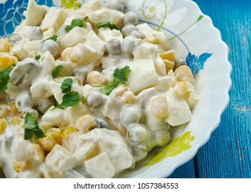 Salatka Jarzynowa - Traditional Polish vegetable salad