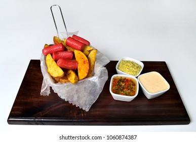Salchipapa combo gourmet