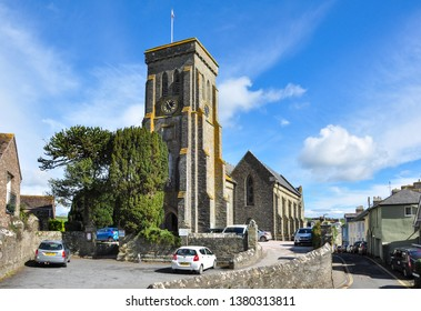 SALCOMBE, DEVON/UK - April 3, 2019. Holy Trinity Church, Salcombe, Devon, England
