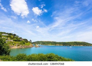 Salcombe England North Sands and Castle on a Sunny Summer Day