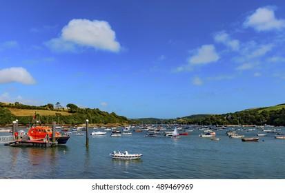 Salcombe Estuary South Hams Devon England in HDR