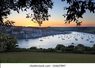 Salcombe Estuary Sunset South Hams South Devon England UK