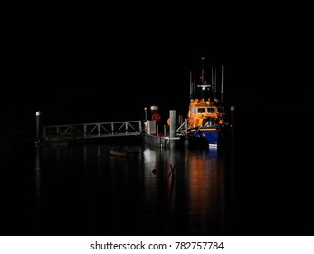 Salcombe lifeboat by night
