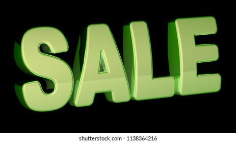 Sale. 3D Illustration.