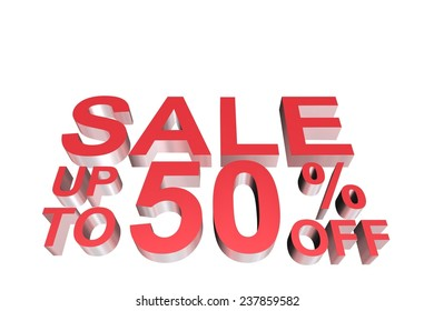 sale with 3d letter