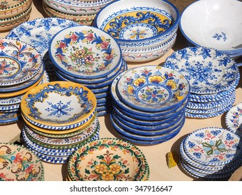 Sale of ceramic, typical of Morocco and Spain
