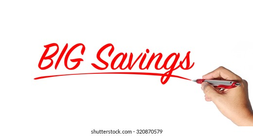 sale concept. hand writing. Concept of discount