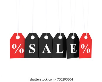Sale and discount 3d render