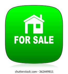 for sale green icon for web and mobile app