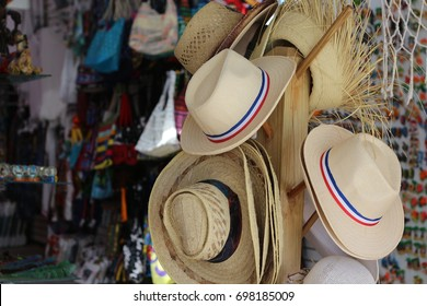 Sale of hats in a gift shop at the Bayahibe beach, Dominican Republic