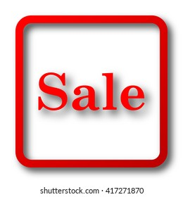 Sale icon. Internet button on white background.