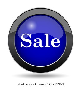 Sale icon. Internet button on white background.