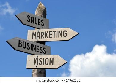 Sale, marketing, business, vision signpost