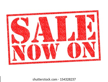 SALE NOW ON Rubber Stamp over a white background.