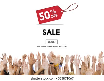 Sale Price Tag Promotion Discount Homepage Concept