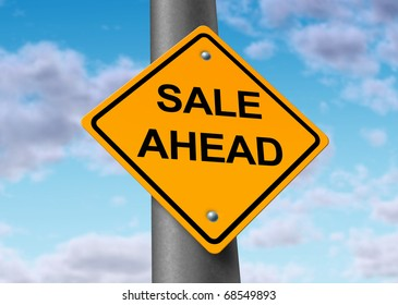 sale selling buyers sellers purchase profits ahead road sign