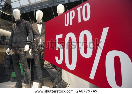 7bc88bf1bb3 Sale Shop Window Fashion Store Stock Photo (Edit Now) 240779749 ...